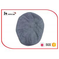 Buy cheap Eight Panels Duckbill Flat Cap Nep Yarn Grey Scally Caps For Mens from wholesalers