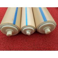 China Natural Color Plastic Nylon Rollers Small Power Consumption For Industries , Long Service Life on sale