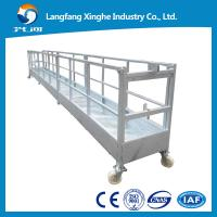 CE steel fixed decorative suspended platform ,zlp building gondola, zlp800 steel cradle Manufactures