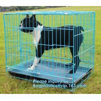 Buy cheap Commercial Stainless Steel Metal kennel Mesh Pet Dog Cage, Heavy duty Metal Welded Dog cage, Full Size Outdoor Kennel Co from wholesalers