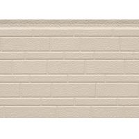 Buy cheap 38 Kg / M3 Embossed Exterior PU Sandwich Wall Panel Thermal Insulation 380mm from wholesalers