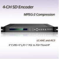 Buy cheap RES2104 MPEG-2 SD Encoder 1MPTS 4*SPTS Output IPTV streaming GOP Auto Management  support PAL NTSC Mode from wholesalers