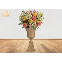 Buy cheap Classic Frosted Gold Fiberglass Urn Planters Centerpiece Table Vase Trophy Shape from wholesalers