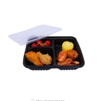 Buy cheap 3 Compartments PP 3L Disposable Food Container 1mm Thickness from wholesalers