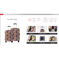 Wholesale Floral Print TSA Lock Long Distance Travel PC Luggage from china suppliers