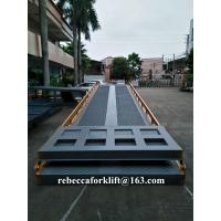 Buy cheap High Duty Steel Mobile Yard Ramp , 12 Ton Warehouse Dock Ramp Easy Operation from wholesalers