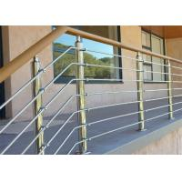 Buy cheap 304 Stainless Steel Solid Rod Balustrade / Bar Railing and Outdoor Wood Handrail from wholesalers