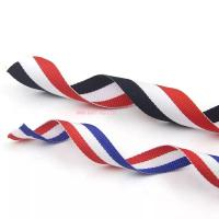 Wholesale IMKGIFT  factory supplier in custom ribbon , neckstrap , lanyard ,blue/whie/red ribbon , medal ribbon in red white black from china suppliers