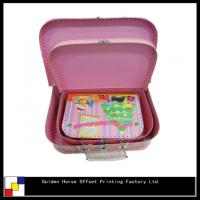 Buy cheap pink gift box with handle from wholesalers