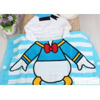 Comfortable Donald Duck Mickey Mouse Hooded Poncho Towels For Boys / Girls Manufactures