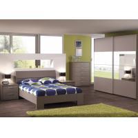 Buy cheap Good Quality Melamine Finishing Bedroom Furniture/ King Size/ Sliding Wardrobe from wholesalers