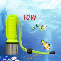 IP 68 ABS Aluminum Alloy High Power 10W CREE XML-T6 Diving Flashlight Lamp with Magnetic Manufactures