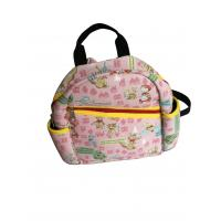 Wholesale Pink Neoprene Personalized Kids Backpacks With Fairy Tale Scene Heat-Transfer Printing from china suppliers