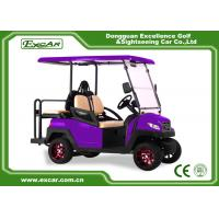 Buy cheap Fuel Type Electric Golf Car 350AH 3.7W Aluminium Electric Hunting Carts Framework Purple from wholesalers