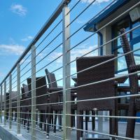 Wholesale SS316 Material Exterior hand railing systems with solid rod design from china suppliers