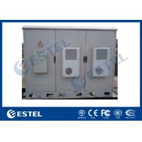 Buy cheap Integrated IP55 Outdoor Triple Bay Racking Telecom Cabinet With Three Doors Air Conditoner Cooling from wholesalers