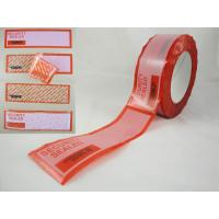 Buy cheap tamper evident security labels from wholesalers