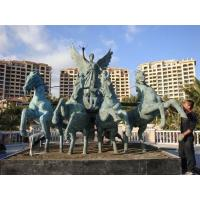 Wholesale Bronze warriors drive the carriage sculpture from china suppliers