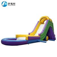 Buy cheap Colorful Kids Inflatable Water Slide Waterproof With Painting / Sewing from wholesalers
