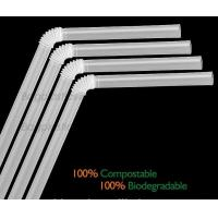 Quality Disposable Paper Straws Pure white Drinking Straws party straw, PLA plastic drinking straw for sale