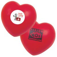Buy cheap Promotional custom red heart-shaped PU foam stress reliever ball with logo printed from wholesalers