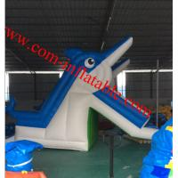 Buy cheap large inflatable dolphins water slide pool inflatable water slide for kids and adults from wholesalers