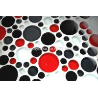 Buy cheap Red,White Black Circle Glass Tile. Mosaic Tile Dia 43,33mm product