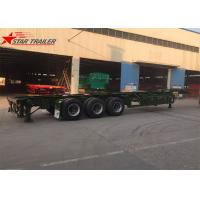 Wholesale 3 Axles Container Skeletal Trailers 40ft Skeletal Chassis Use Transport from china suppliers