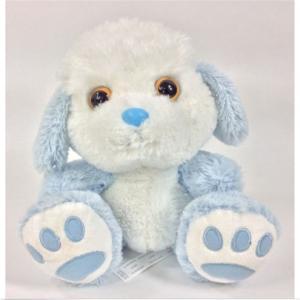 China Unique PV Plush Blue And White Rabbit Plush Toy 10cm Cute Animal Design on sale