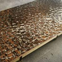 Buy cheap 2019 Steelcolor Aperam Supplier Water Ripple Pattern 1500*3000 Stainless Steel Mirror Copper Sheets In Foshan Factory from wholesalers