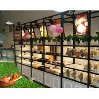 Buy cheap Metal Wooden Food Store Shelving LED Light Bread Display Rack With Three Layer from wholesalers