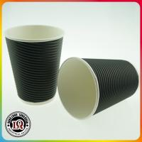 Buy cheap Disposable 12oz Horizontal Ripple Wall Paper Coffee Cups from wholesalers