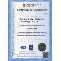 Dongguan Klair Filtration Technology Co., Limited Certifications