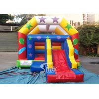 Quality Commercial grade inflatable bouncy castle with slide for outdoor kids party for sale