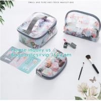 Buy cheap Travel Luggage Pouch Custom Clear Transparent PVC Travel Toiletry Bag Make Up Cosmetic Bag,Vinyl Wash Beauty Cosmetic Tr from wholesalers
