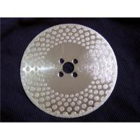 Buy cheap Electroplated diamond saw blades dots two sides from wholesalers
