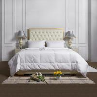 Buy cheap Luxury White Hotel Style Quilt Custom Size Hotel Plain Quilt Sets 100% Cotton from wholesalers