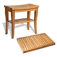 Buy cheap Durable Bamboo Bathroom Supplies Wood Shower Seat Bench With Bathroom Floor Mat from wholesalers