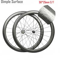 Buy cheap 50mm Dimpled Carbon Wheels Z Mark Clincher Tubular 16 - 36 Holes OEM from wholesalers