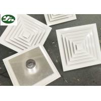 Buy cheap Air Pipe Inlet Square White Aluminium Grille Directional Air Diffuser For Cleanroom from wholesalers