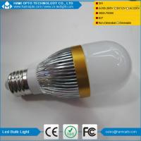Buy cheap CE RoHS energy Saving wide working voltage 3W E27 white led bulb light from wholesalers