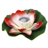 Solar Colorful LED Lotus Lamp Floating Rotating Pond Light Garden Pool Nightlight Manufactures