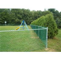 Custom PVC Coated Wire Chain Link Fencing , Silvery Diamond Mesh Fencing