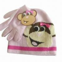 Buy cheap Acrylic Kid's Beanie and Gloves Set with Embroidery Logo, BSCI Audit from wholesalers