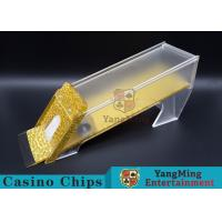 Anti - Cheating Casino Card Shoe / 8 Deck Shoe With Customized Logo Print