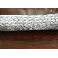 Buy cheap Silver Plated Stainless Steel Braided Sleeving , Braided Stainless Steel Tubing from wholesalers