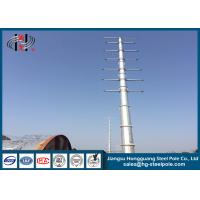 Buy cheap Dodecagonal Hot Dip Galvanized Steel Pole , Steel Transmission Poles For Electrical Power Transmission Line from wholesalers