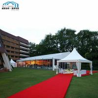 Buy cheap Large Outdoor Wedding Tent Glass Wall Fire Retardant Fabric Cover from wholesalers