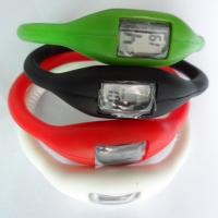 Buy cheap Digital Silicone Wristband Watch Anion Ion Rubber Wrist Watch With Eco-Friendly Materials from wholesalers