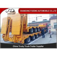 Buy cheap 80 ton Gooseneck low loader Low Bed Tractor truck trailer sale Hydraulic ramp from wholesalers